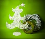 Prentbriefkaar voor ontwerp met nieuw jaarspeelgoed Royalty-vrije Stock Foto