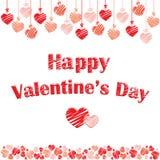Prentbriefkaar voor St Valentijnskaartendag Royalty-vrije Stock Fotografie