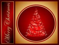 Prentbriefkaar voor vrolijke Kerstmisdag Vector Illustratie