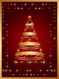 Prentbriefkaar voor vrolijke Kerstmisdag Stock Illustratie