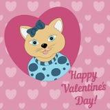 prentbriefkaaren De dag van de valentijnskaart Stock Fotografie