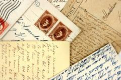 Prentbriefkaaren en Arabische zegels royalty-vrije stock foto
