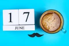Prentbriefkaaren op het thema van Vader` s Dag 17 juni Royalty-vrije Stock Afbeelding
