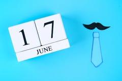 Prentbriefkaaren op het thema van Vader\ 's Dag 17 juni Royalty-vrije Stock Afbeelding