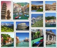 Prentbriefkaaren van Italië Stock Foto
