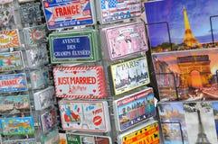 Prentbriefkaaren van Parijs Stock Afbeelding