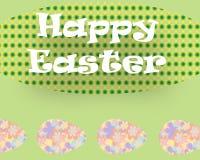 Prentbriefkaargroeten van Gelukkige Pasen Stock Afbeelding
