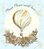 Prentbriefkaarreis aan Europa, Parijs Royalty-vrije Stock Afbeeldingen