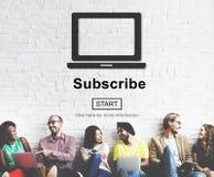 Prenumeruje Reklamowego Marketingowego członkostwa pojęcie Zdjęcie Royalty Free
