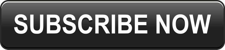 Prenumeruje teraz ikony sieci guzika czerń ilustracji