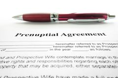 Prenup agreement Royalty Free Stock Images
