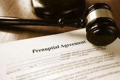 Prenup contract Stock Photo