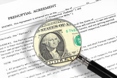 Prenuptial agreement Royalty Free Stock Photography