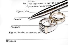 Prenuptial Agreement Stock Images