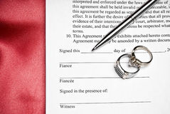 Prenuptial Agreement Royalty Free Stock Image