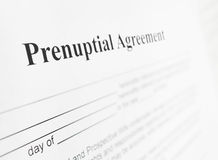 Prenuptial agreement Royalty Free Stock Photo