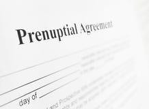 Prenuptial agreement Royalty Free Stock Photo