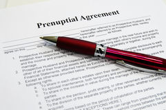 Prenuptial contract Royalty Free Stock Photography