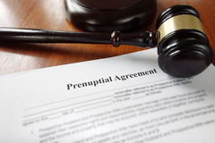 Prenuptial marriage agreement Stock Photos