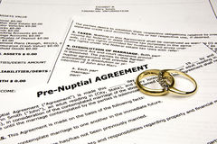 PreNuptial with Rings Stock Photo