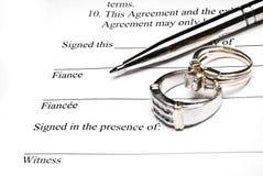 Prenuptial Vereinbarung Stockbilder