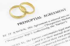 Prenuptial (voreheliche) Vereinbarung stockfoto