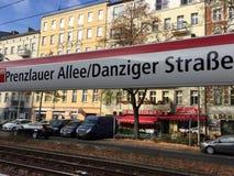 Prenzlauer Allee, Danziger Strasse/, Berlin, Niemcy fotografia royalty free