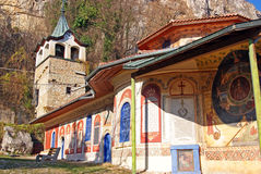 Preobrajenie monastery and tower stock image