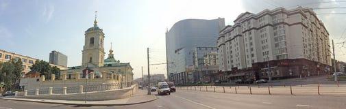 Preobrazenskaya广场在莫斯科 免版税库存图片