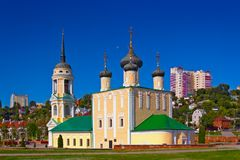 Preobrazhenskiy church of the city of Voronezh Royalty Free Stock Photo