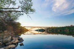 Preobrazhensky曲拱桥梁的看法  库存图片