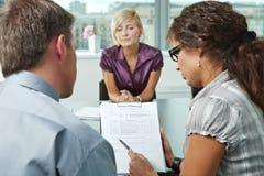Preoccupandosi durante l'intervista di job Fotografia Stock Libera da Diritti