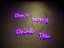 Preoccupazione del ` t di Don, tè della bevanda Immagini Stock