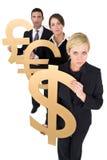Preoccupazioni di valuta Fotografia Stock