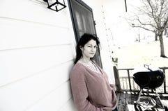 Preocupação da mulher Foto de Stock Royalty Free