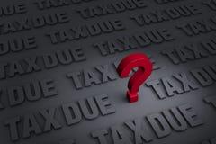 Preocupação sobre o imposto devido Fotos de Stock Royalty Free