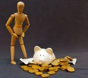Preocupações do dinheiro foto de stock royalty free