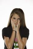 Preocupación de la demostración del adolescente imagenes de archivo