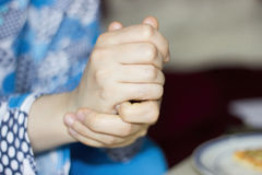 Preocupación de la mano Imagenes de archivo