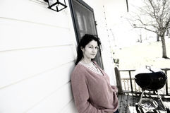 Preocupación de la mujer foto de archivo libre de regalías