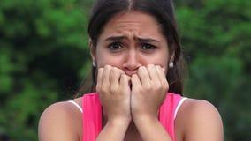 Preocupación femenina de la tensión del miedo de la tristeza metrajes