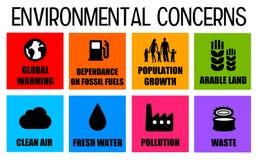 Preocupaciones ambientales ilustración del vector