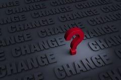 Preocupado de cambio Foto de archivo libre de regalías
