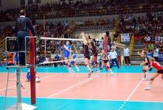 preolympic provvolleyboll för match Arkivfoton