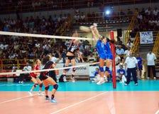 preolympic provvolleyboll för match Royaltyfri Fotografi