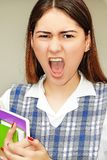 Prep Studente Shouting royalty-vrije stock foto's