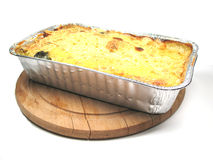 Prepacked oven dish. A prepacked oven dish ready to be served Royalty Free Stock Images