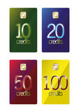 Prepaid discount cards. Abstract colorful prepaid discount cards. Additional  illustration format is avaialble Stock Image