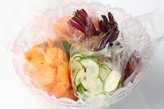 Prepaid vegetable salad Stock Photo