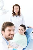 Prepairing to treat carious teeth Royalty Free Stock Images